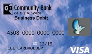 Example business debit card